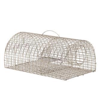 Cage piège à rats semi-ronde.
