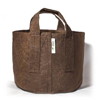 Pot géotextile à poignées marron 78 litres