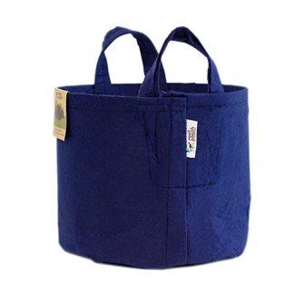 Pot géotextile à poignées bleu navy 12 litres